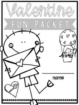 Love Bug Valentine Packet! NO PREP!