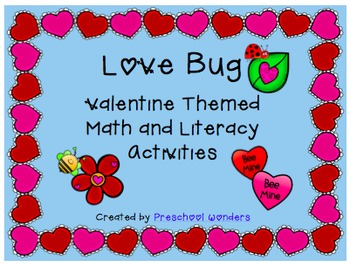 'Love Bug' Valentine Theme Math and Literacy Activities