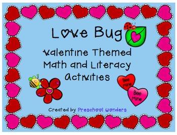 'Love Bug' Valentine Theme Math and Literacy Activities
