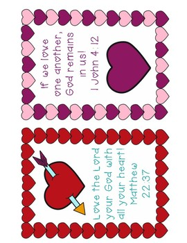 Love Bug Valentine and Bible Verse Cards