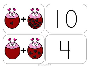 Addition Game For Valentine's Day