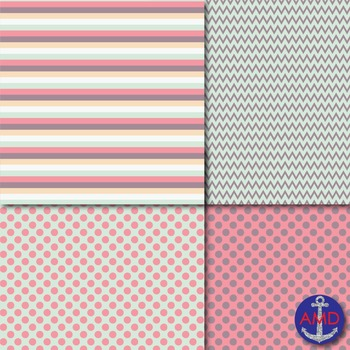 Love Bug Valentine's Day Digital Paper Pack Freebie Commercial Use