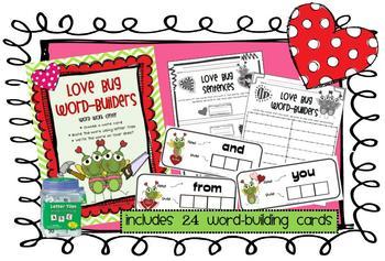 Love Bug Word-Builders Word Work Center