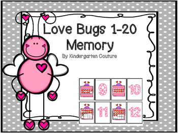 Love Bugs 1-20 Memory or Matching Game