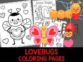 Love Bugs Coloring Pages - The Crayon Crowd, Valentine's Day, Mothers Day