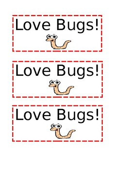 Love Bugs Labels!