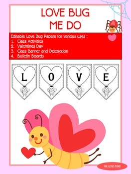 Love Bugs Papers / Banner / Pennant