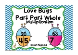 Love Bugs Part Part Whole Multiplication Task Cards