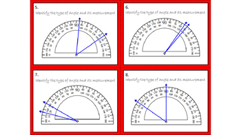 Love Bugs - Protractor Task Cards