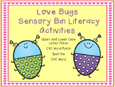 Love Bugs Sensory Bin Literacy Activities