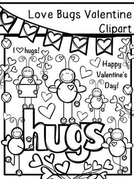Love Bugs Valentine Clipart