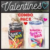 Love Bugs Valentine's Day Mason Jar Printable for Gummy Wo