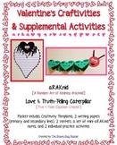 Love Bugs Valentine's Craftivities: aR.A.K.nid Letters & Caterpillar True/False