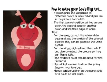 Love Bugs Valentine's Day Activities