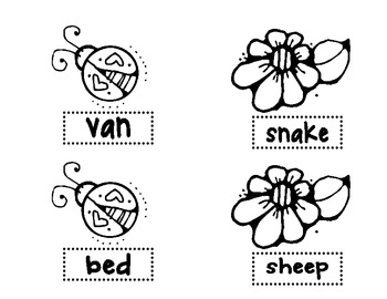 Love Bugs and Crazy Daisies - Long and Short Vowels - Literacy Center