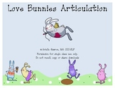 Love Bunnies Articulation K and G