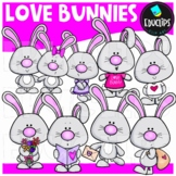 Love Bunnies Clip Art Bundle {Educlips Clipart}