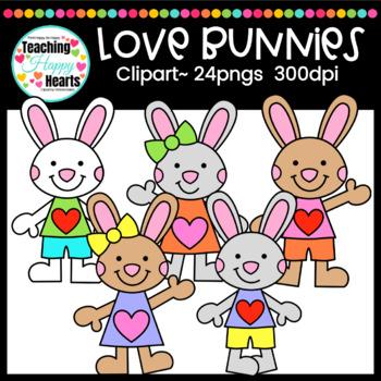 Love Bunnies Clipart