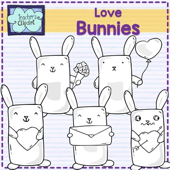 Love Bunnies Clipart {Valentine's Day}