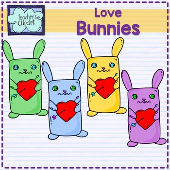 Love Bunnies Clipart {Valentine's Day}
