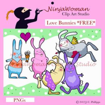 Love Bunnies *FREE CLIP ART*