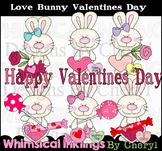 Love Bunny Valentine Clipart