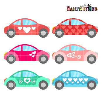Love Cars Clip Art - Great for Art Class Projects!