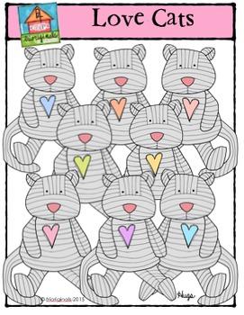 Love Cats {P4Clips Trioriginals Digital Clip Art}