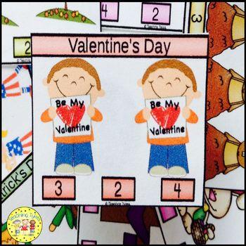 Valentine's Day Clip Task Cards