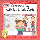 Valentine's Day Count and Clip Holiday Task Cards