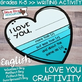 Love Craftivity | Valentines Day | Mothers Day | Fathers Day | Grandparents Day