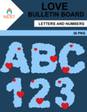 Love Decoration Letters and Numbers