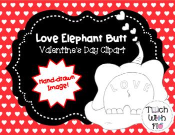 Love Elephant Clipart - Valentine's Day Clipart - PU/CU OK ...
