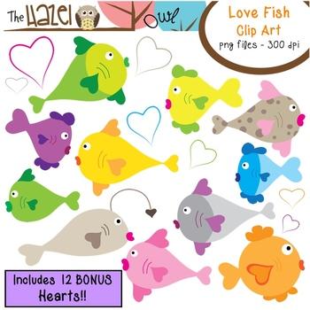 Love Fish Set: Clip Art Graphics for Teachers