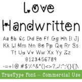 Valentines Day Heart Font - TTF File- Commercial Use