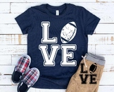 Love Football svg Elf sweater Christmas shirt hat tackle valentine's day 1161S
