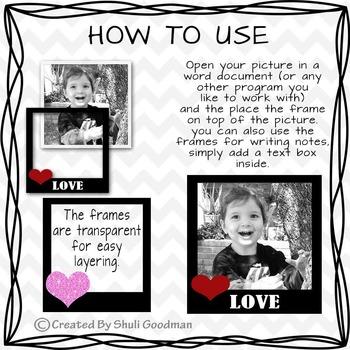 Love Frames clip art - transparent valentines frames