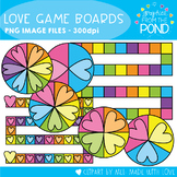 Valentine's Day Game Boards Clipart