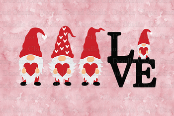 Love Gnomes Svg Gnome With Heart Svg Cut Files Gnome Svg Valentine Day Png