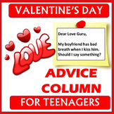 VALENTINE'S DAY - Dear Love Guru... Advice - No prep, prin