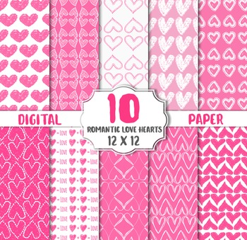 Love Heart Digital Paper