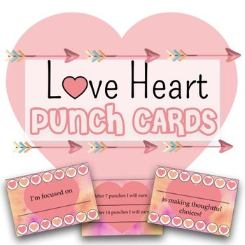 Love Heart Punch Cards - Positive Reinforcement Strategy