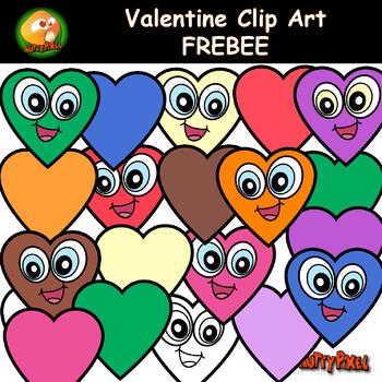 Love Heart Valentine Clip Art Freebie