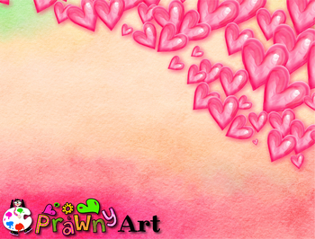 Love Heart Watercolor Paper Background Texture Borders