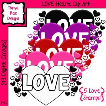 Love Hearts Clip Art {Valentine's Day}