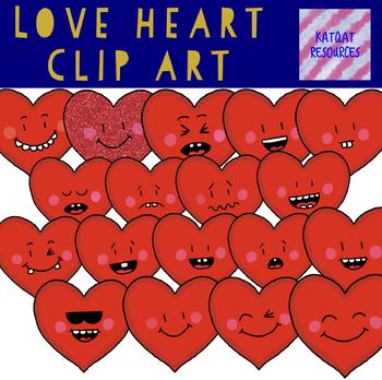 Love Hearts Clip Art Valentines Day Clip Art