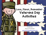 Love, Honor, Remember Veterans Day Activities