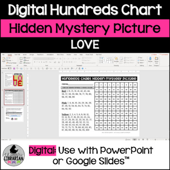 Love Hundreds Chart Hidden Picture Activity for Valentine's or Mother's Day Math