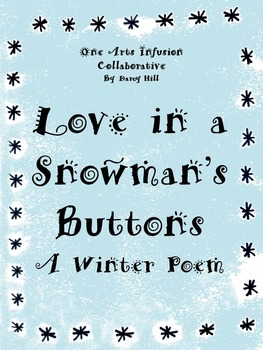 Love In A Snowman's Buttons Winter Poem