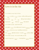 Love Is In the Air Mad Lib  **easy to use **